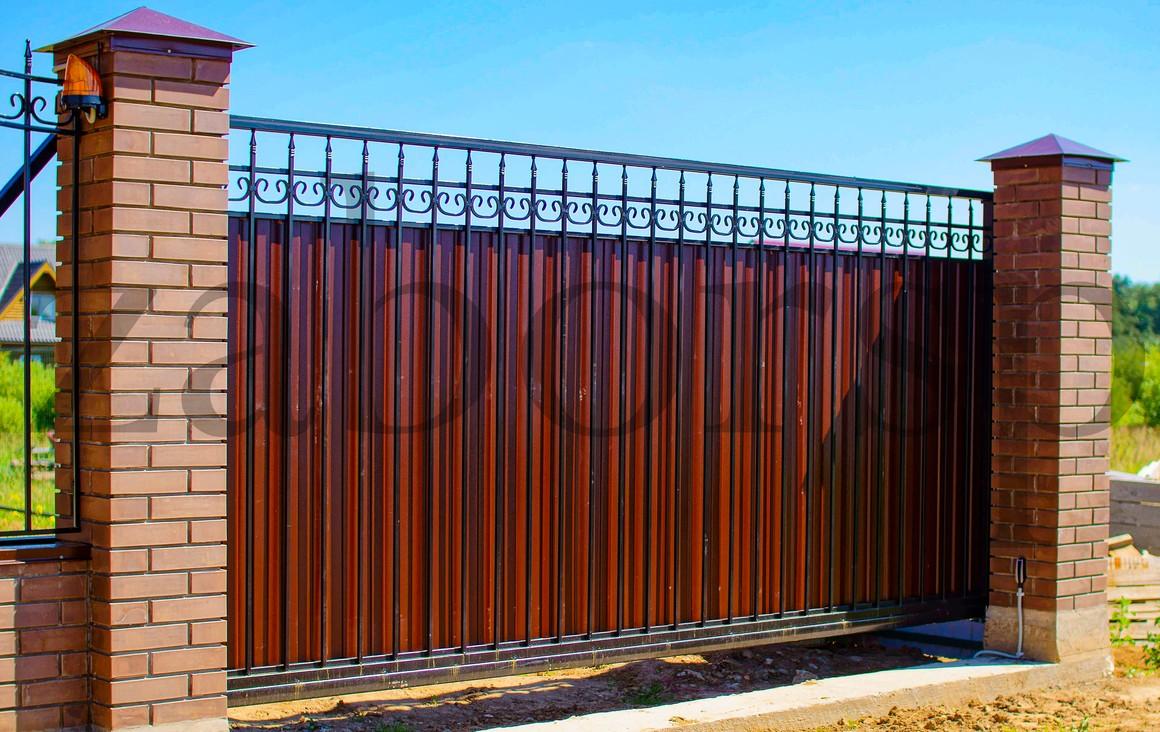 Откатные ворота в гараж фото момент